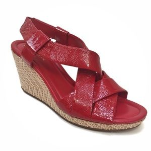 Cole Haan Nike Air Red Strappy Wedges